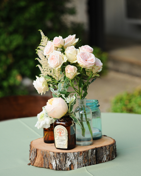 Country Wedding Centerpieces Ideas: Elegant Rustic Wedding: Stephanie + Jake