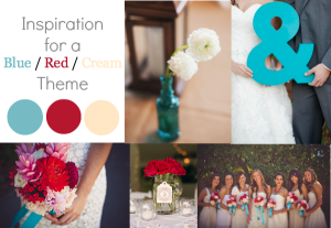 Blue Red Cream Wedding Inspiration
