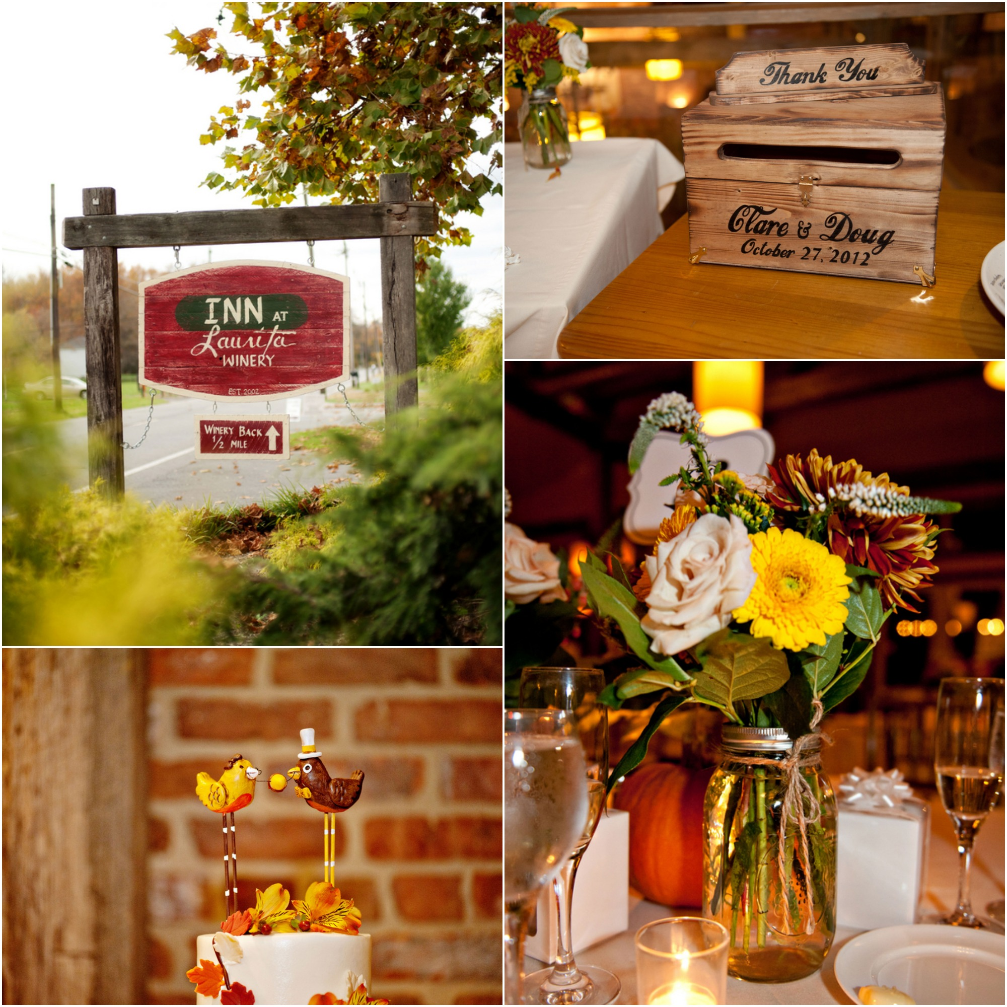 Fall Winery Country Wedding