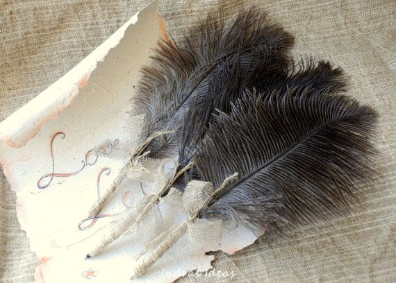 Wedding Guestbook Feather Quill