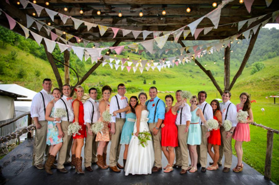 Farm Style Wedding Party