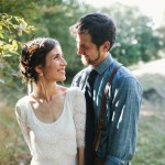 Rustic Chic Wedding Couple