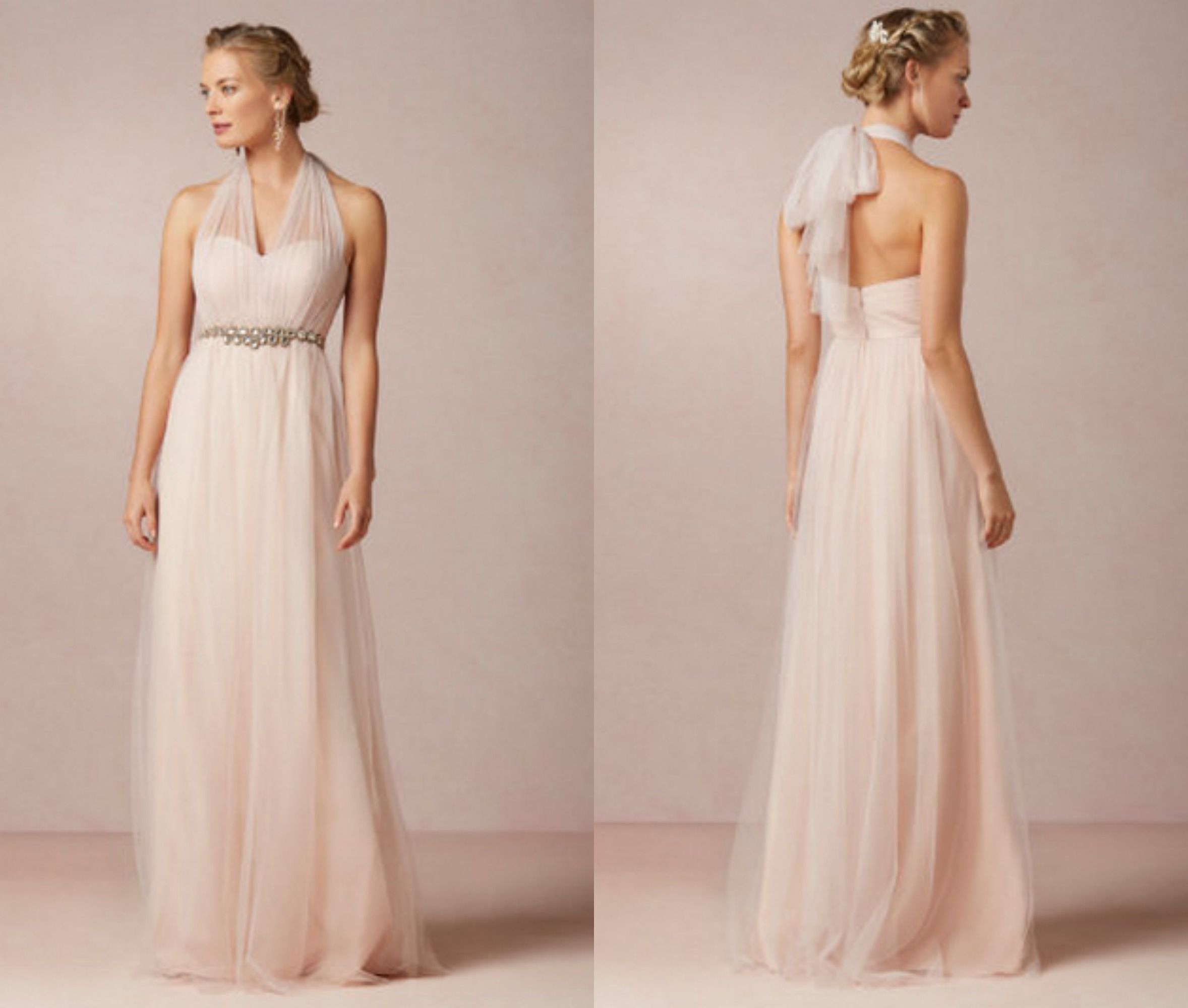 light wedding one pin evening shoulder hollow bridesmaid neck chiffon lighting blue dress dresses long