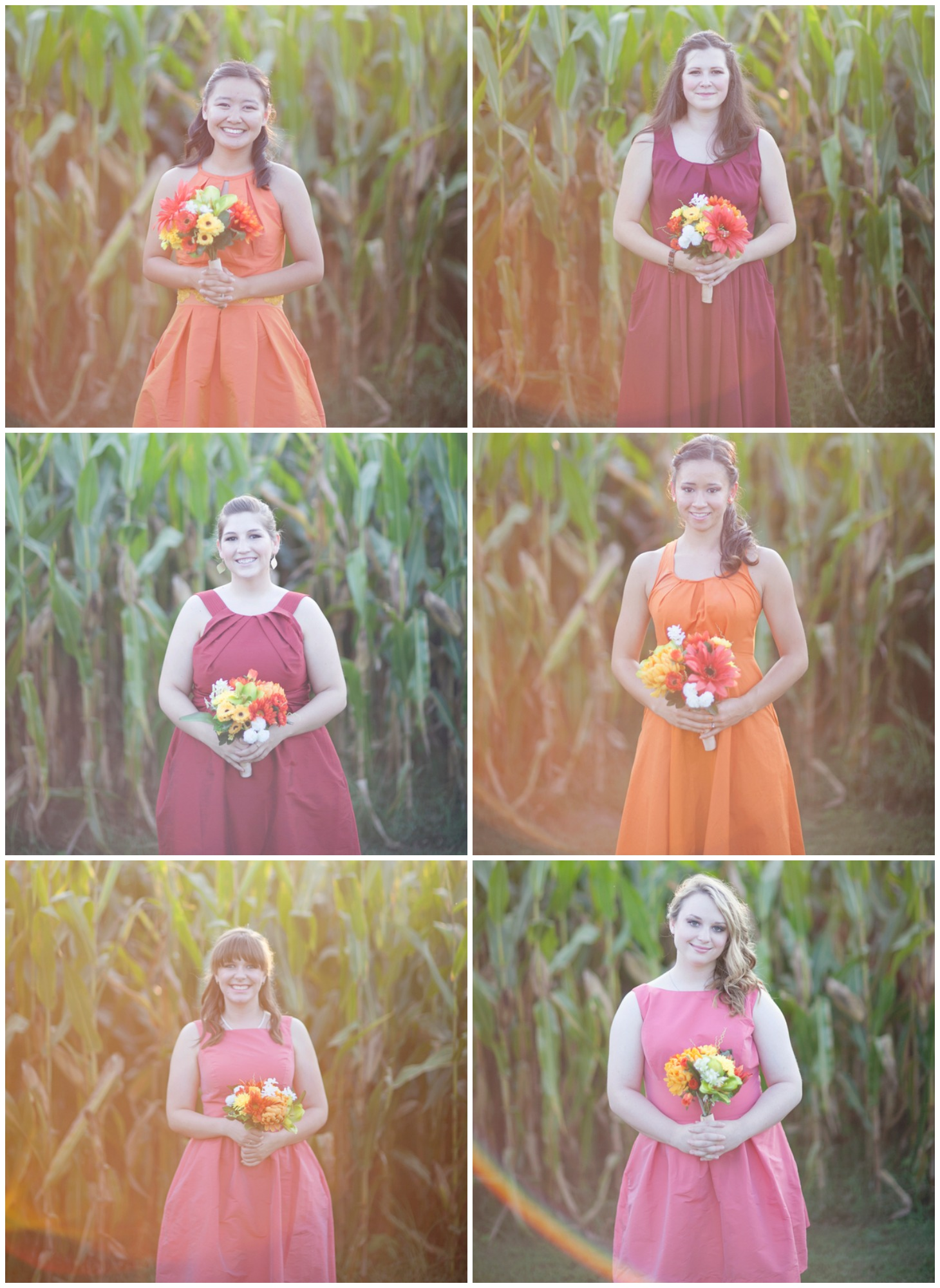 Tate farms wedding in alabama rustic wedding chic for Bright colored wedding dresses