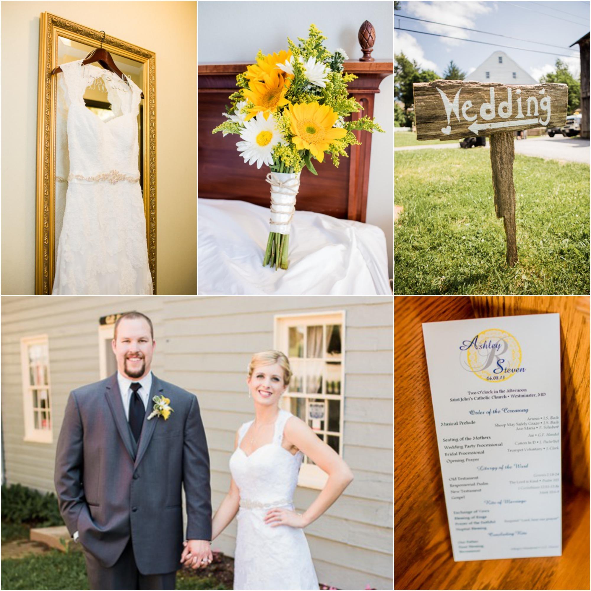 yellow country wedding