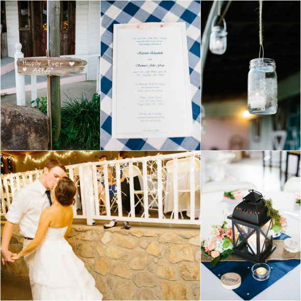 Wedding Color Inspiration Peach And Navy Rustic Wedding Chic