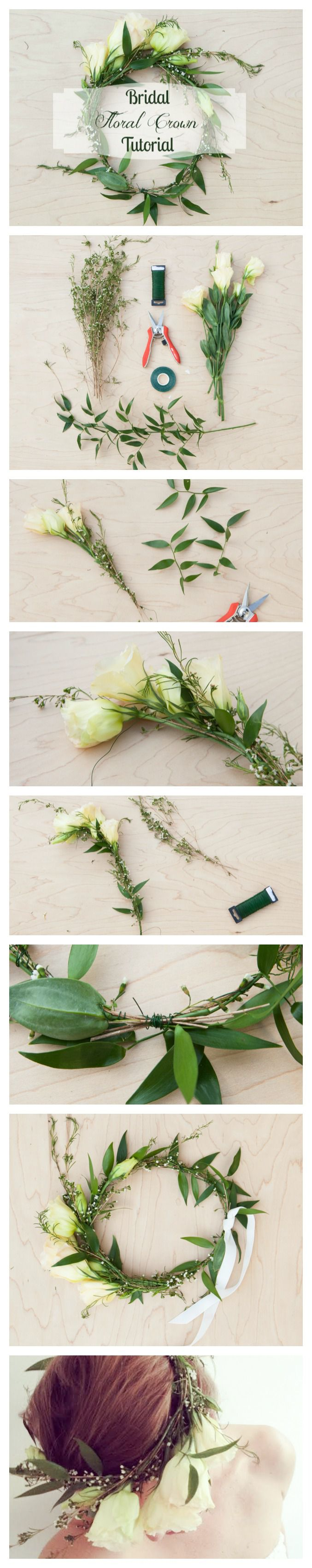 How to make a floral wedding crown rustic wedding chic how to make a floral crown izmirmasajfo