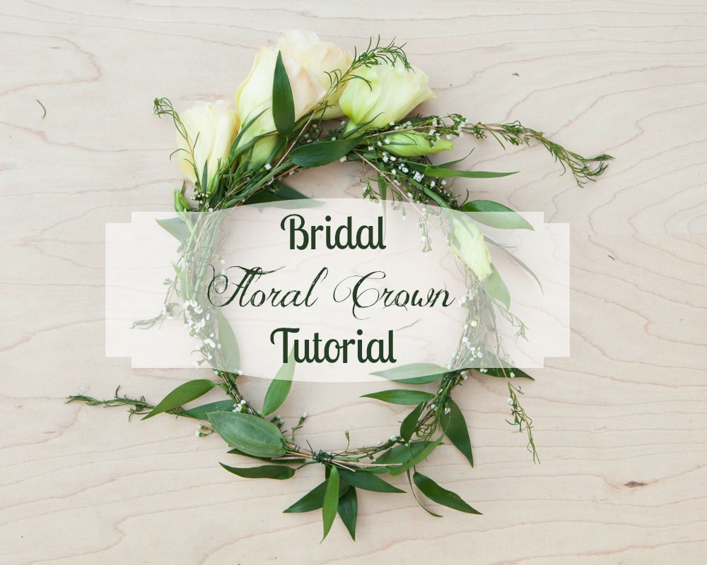 How To Make A Floral Wedding Crown Rustic Wedding Chic