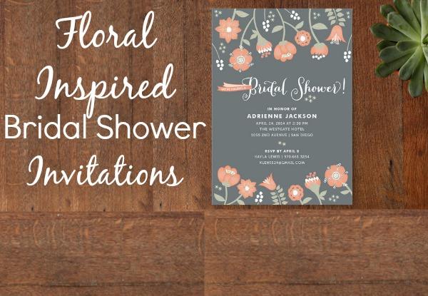 Floral Inspired Bridal Shower Invitations