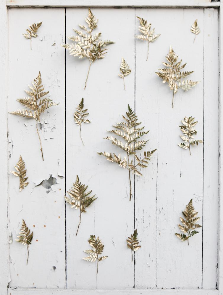 DIY Golden Sprig Wedding Backdrop