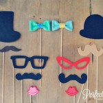 Felt Wedding Photo Booth Props