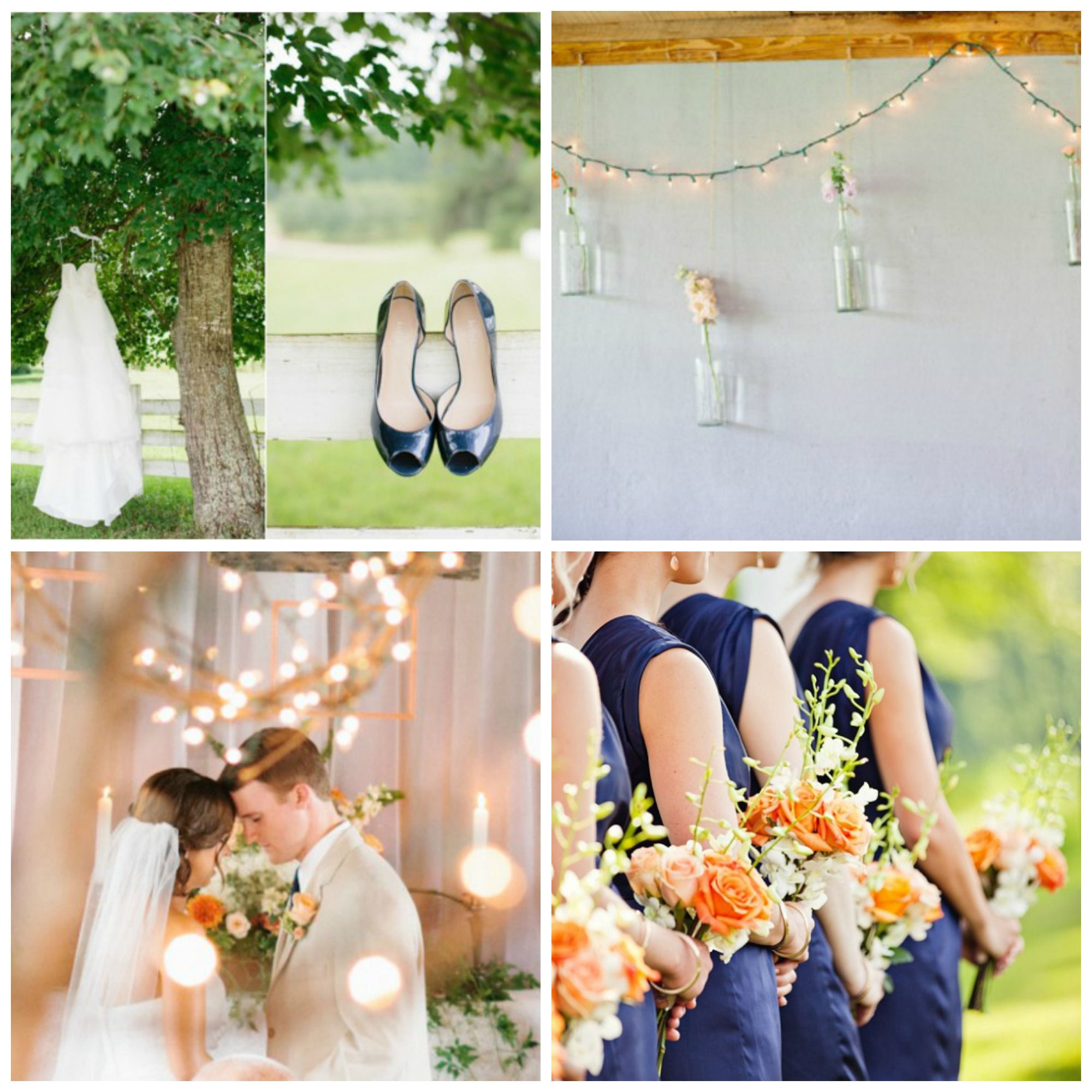 Wedding Backdrop Ideas: Wedding Color Inspiration : Peach And Navy