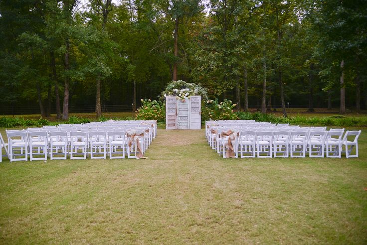 Outdoor Ceremony Backdrop Inspiration Rustic Wedding Chic