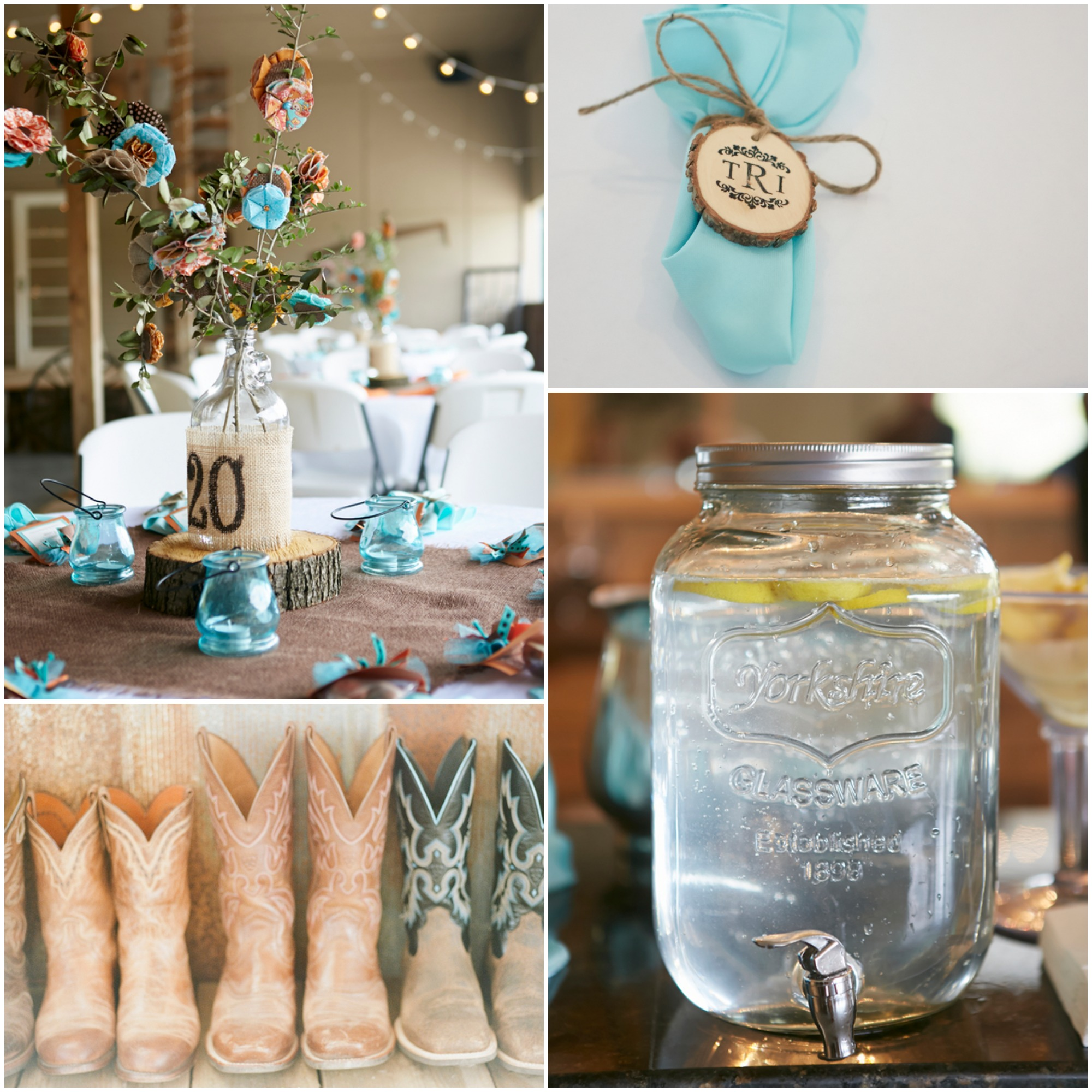 Georgia southern chic farm wedding rustic wedding chic for Country wedding reception decorations