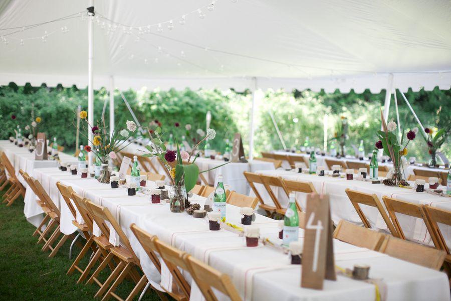 Casual Backyard Wedding Reception rustic camp style wedding - rustic wedding chic