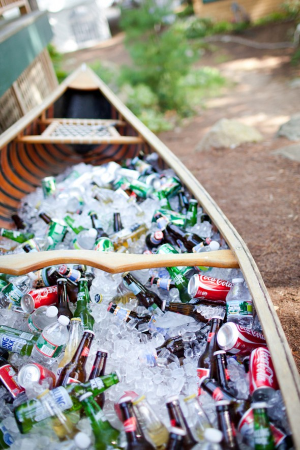 Canoe Drink Display