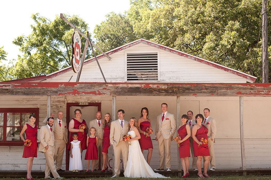 Red Color Themed Country Wedding - Rustic Wedding Chic