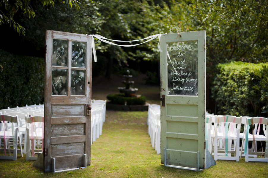 Doors For Wedding Ceremony Outdoor Rustic