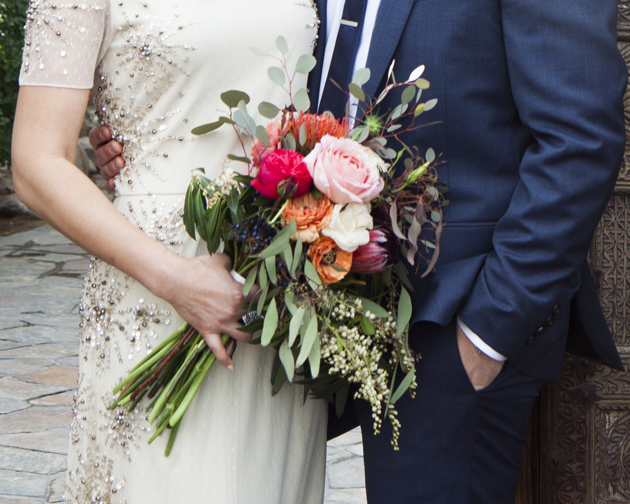 How To Make A Bare Stem Wedding Bouquet Rustic Wedding Chic