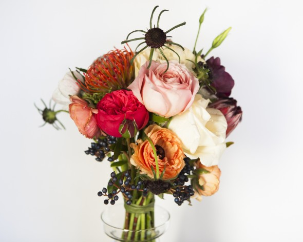 How to Make a Bare Stem Wedding Bouquet