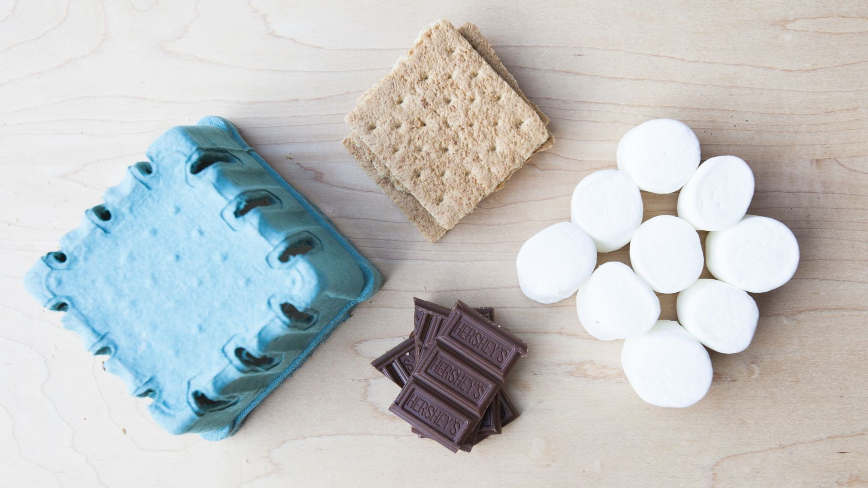 Smore Kits in Berry Cartons As Weding Favors