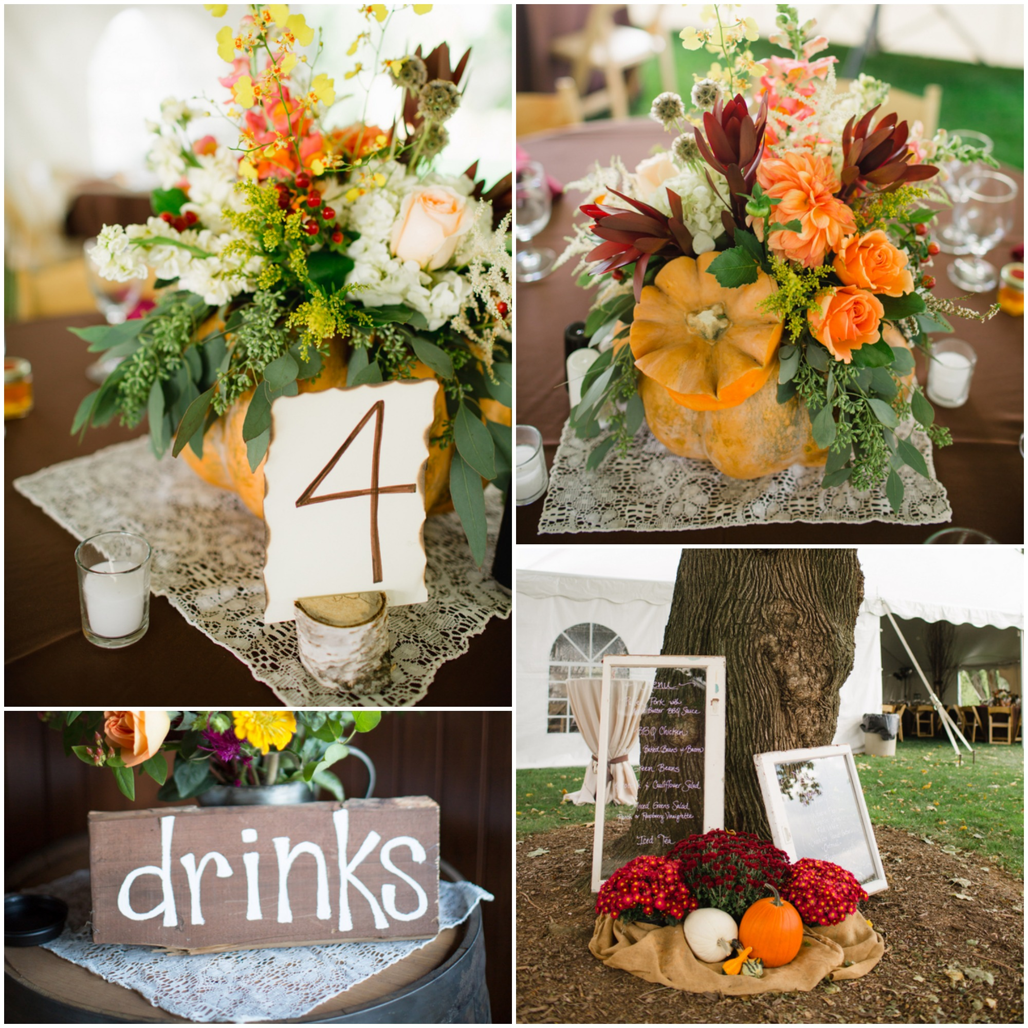 Fall Barn Wedding Ideas: Fall Inspired Rustic Wedding