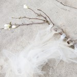 Magnolia Branch & Tuile Wedding Backdrop Tutorial