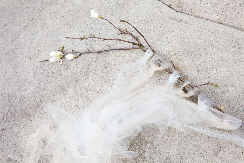 Magnolia Branch & Tuile Wedding Backdrop Tutorial