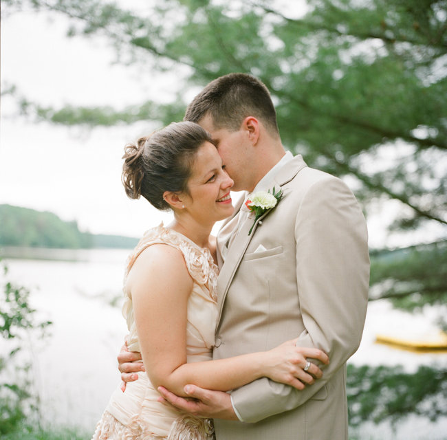 A Lakeside Wedding At A Cabin