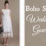 Boho style wedding gowns