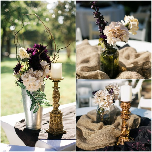 Rustic Country Wedding Ideas: Plum Tone Wedding Color Inspiration