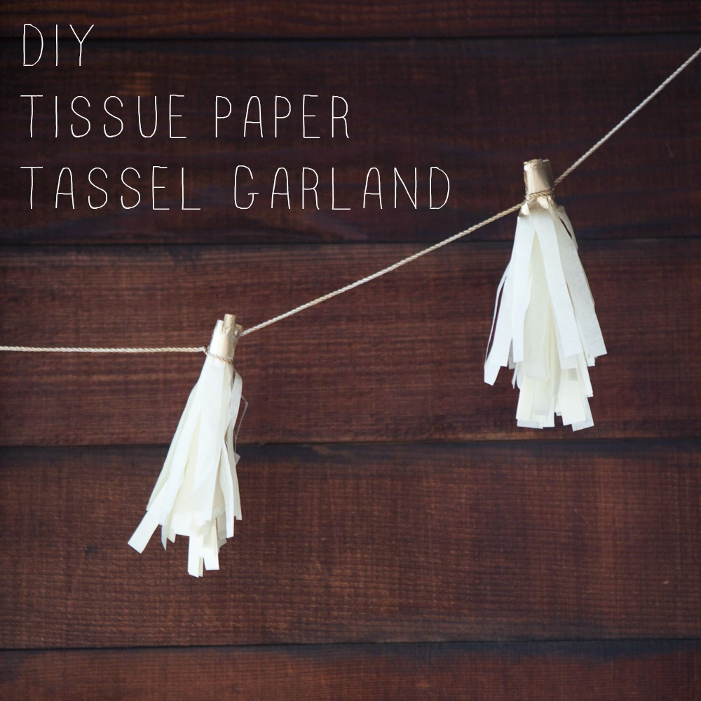 How to Make a Tissue Paper Tassel Garland - Rustic Wedding ...