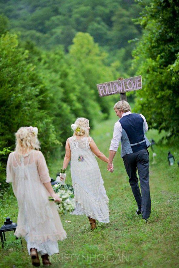 Follow Love Sign