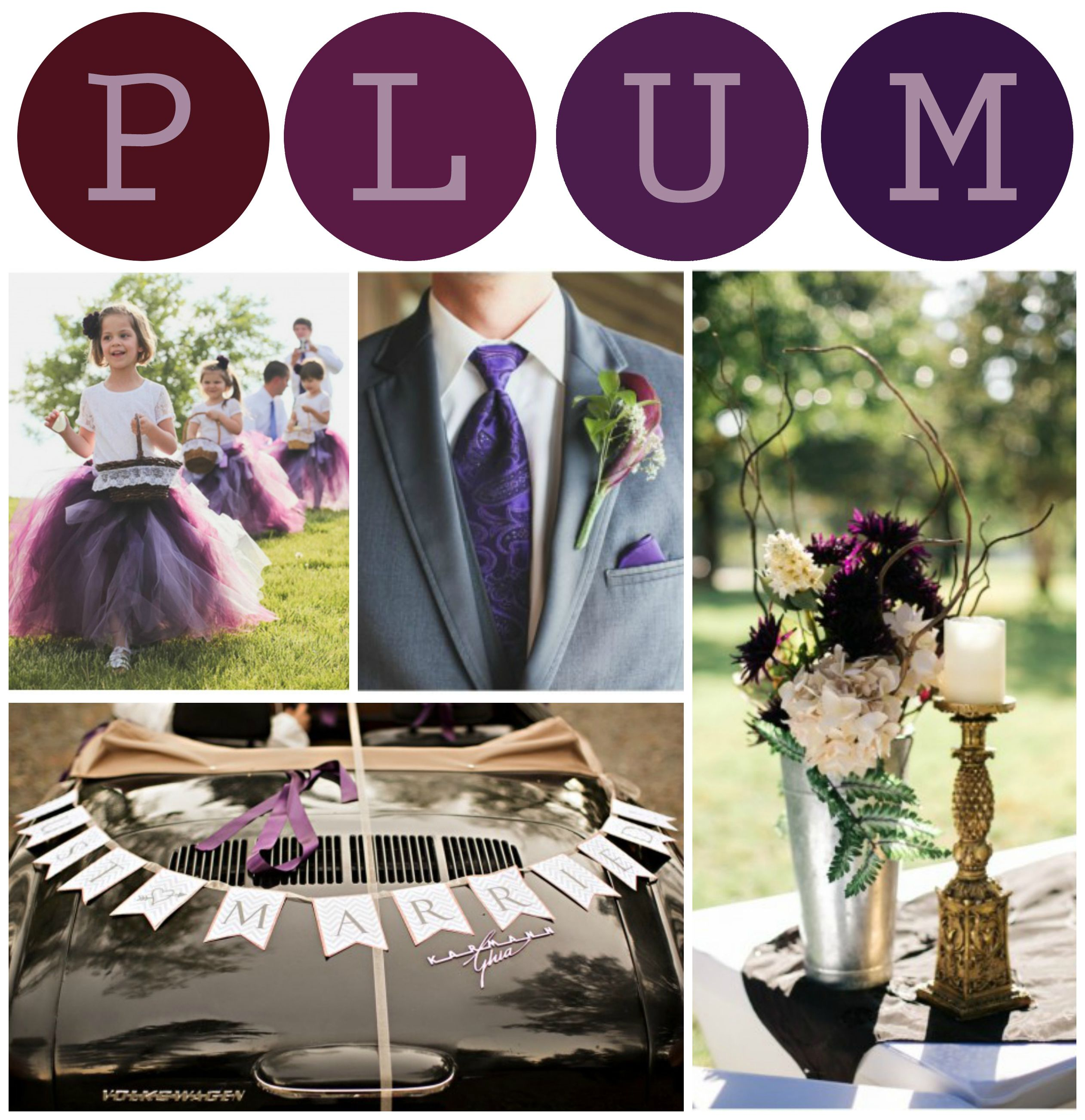 Plum Tone Wedding Color Inspiration
