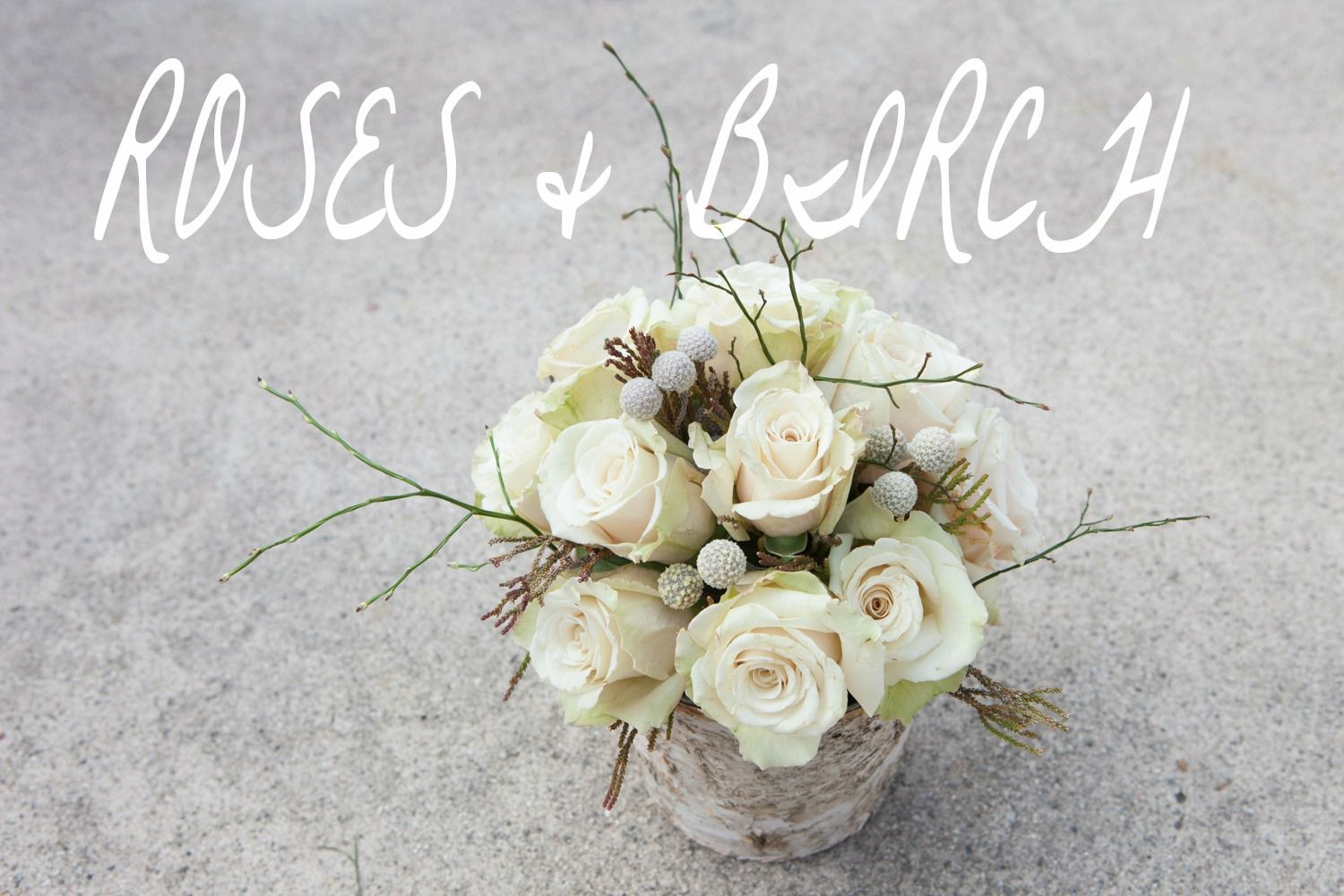 Creating A Woodland Rose & Birch Centerpiece - Rustic Wedding Chic