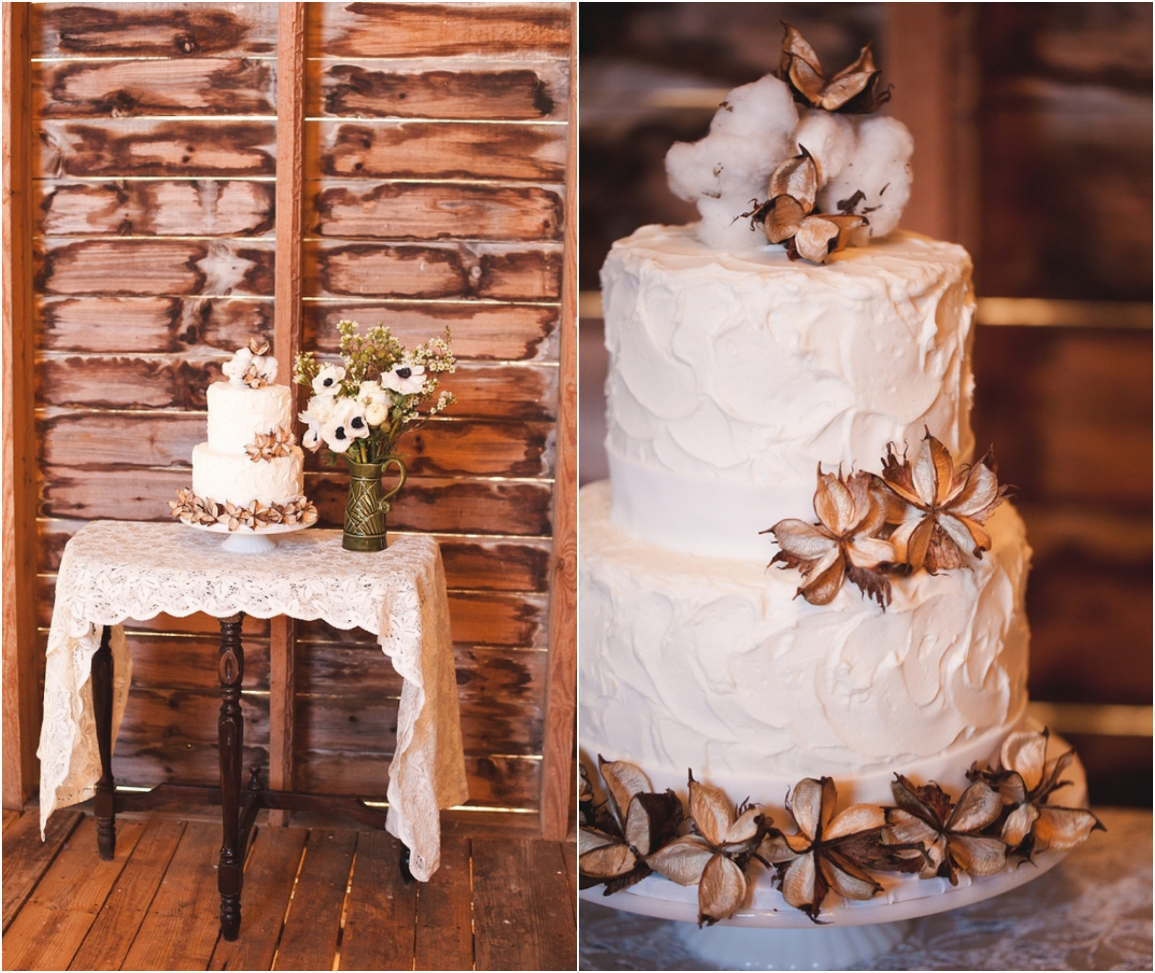 Rustic Wedding Cake Ideas And Inspiration: Romantic Rustic Wedding Inspiration