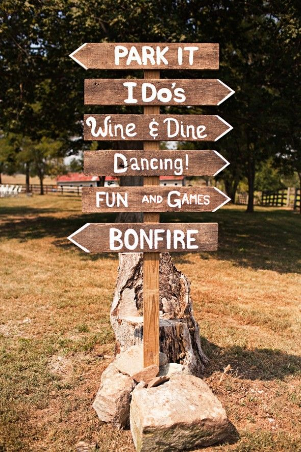 10 Rustic Wedding Sign Ideas Chic