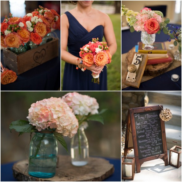 Blue Wedding Ideas Themes: Navy Blue Wedding Color Inspiration