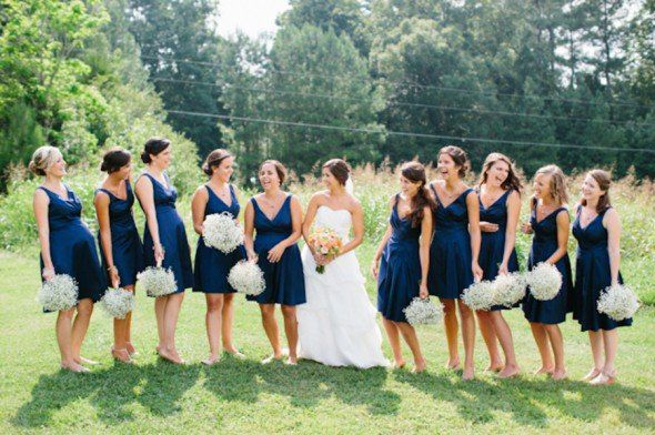 Navy Blue Wedding Color Inspiration - Rustic Wedding Chic
