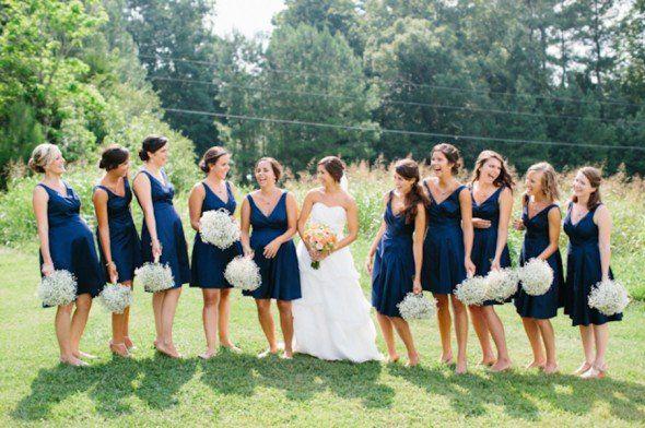 Navy Blue Wedding Color Inspiration - Rustic Wedding Chic