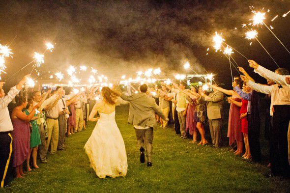 As You Wish Floral Design Early Spring Wedding At The Hy: Our Ten Favorite Sparkler Send-Offs