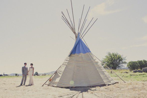 Antique White Wedding Teepee