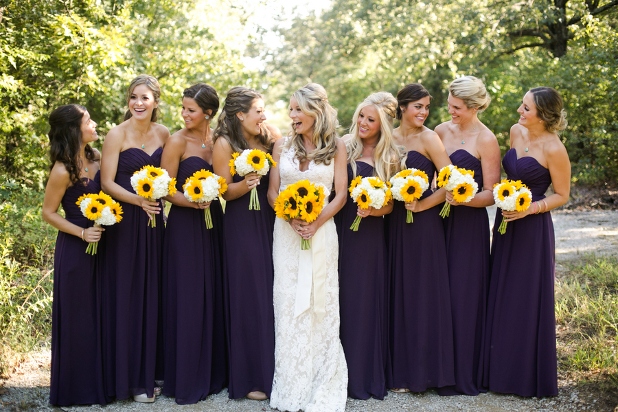 Country sunflower wedding rustic wedding chic for Sunflower dresses for wedding