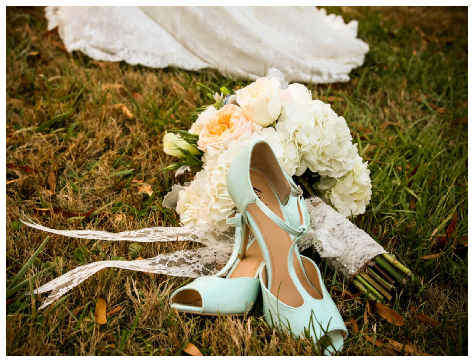 Pastel Blue Wedding Shoes