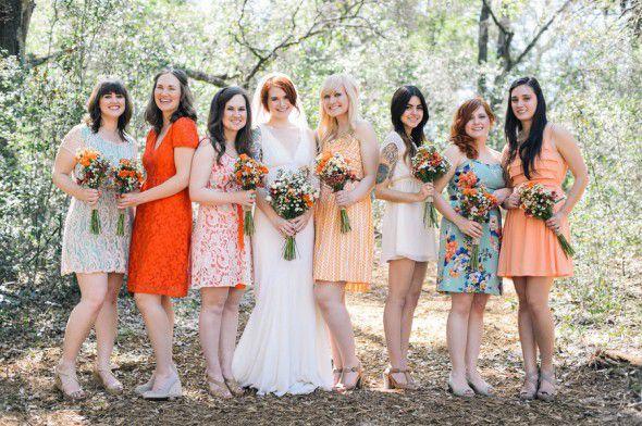 Bright Coloured Bridesmaid Dresses: 25 Great Summer Wedding Ideas