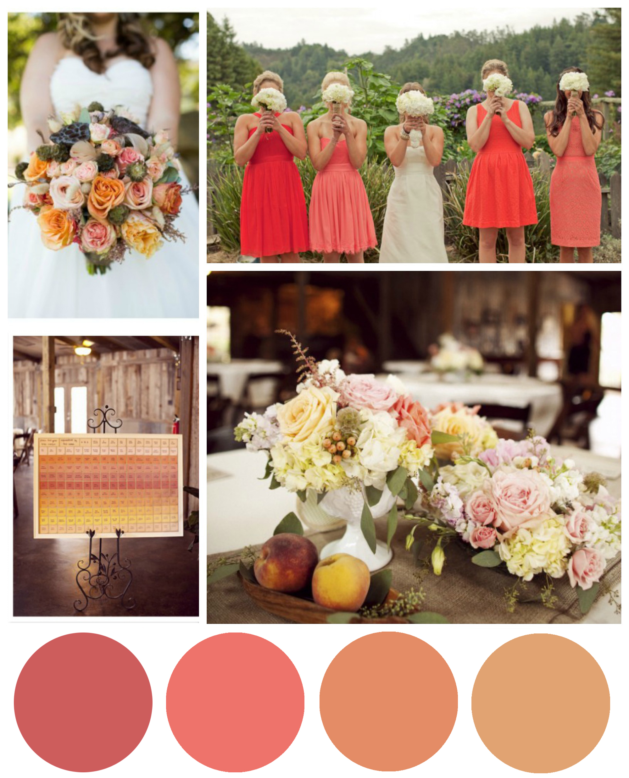 Coral & Salmon Wedding Color Inspiration