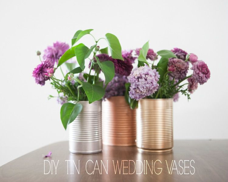 Tin Can Wedding Centerpieces Rustic Wedding Chic