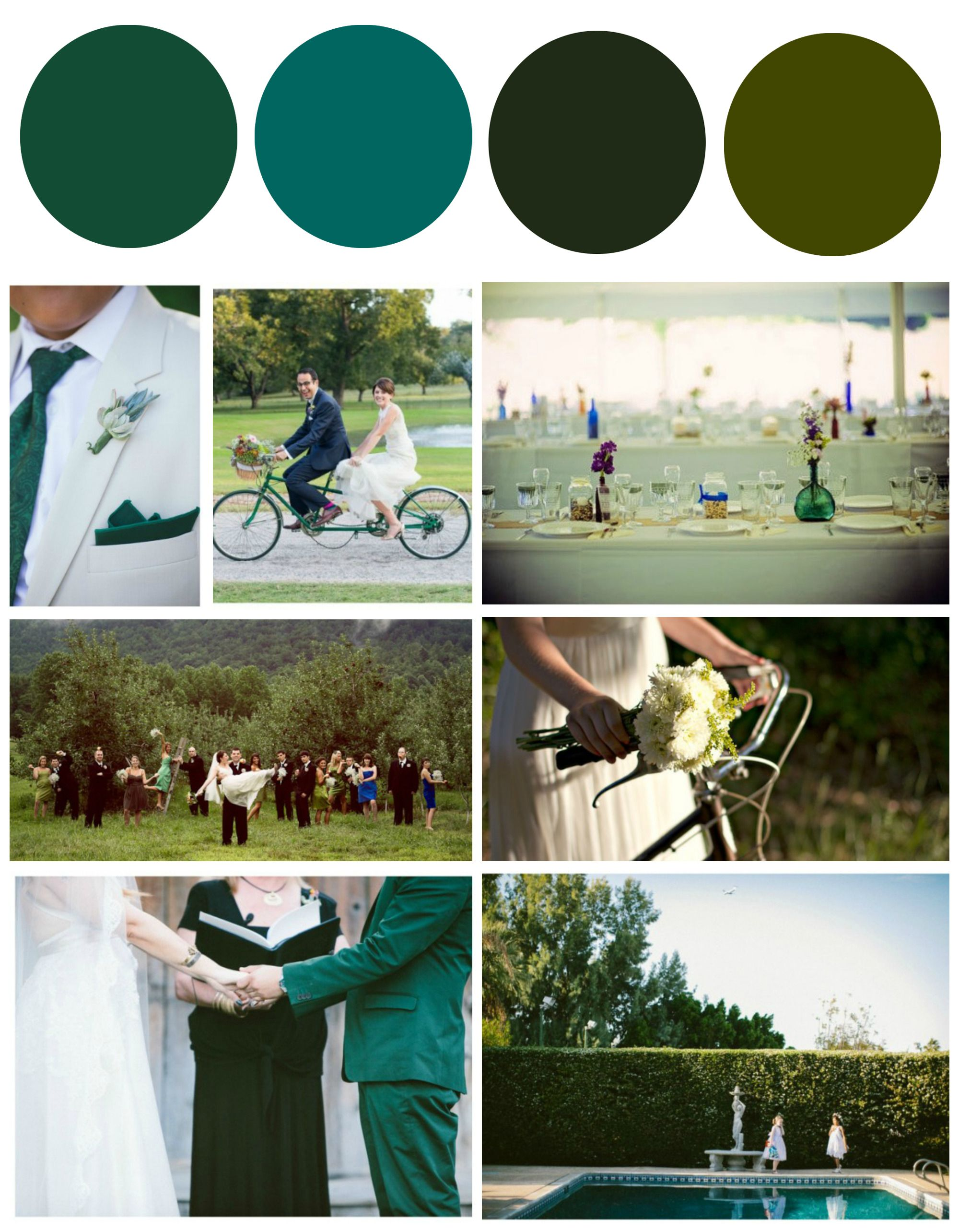Hunter Green Wedding Inspiration Color