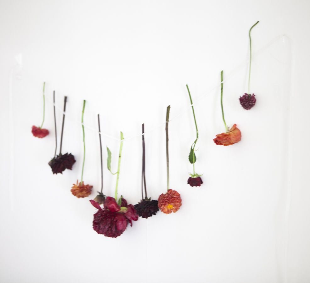 Rustic Country Southern Wedding: Hanging Floral Line Tutorial