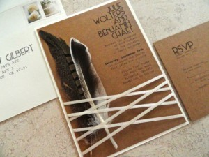 May Etsy Round-Up : Feather Invitations